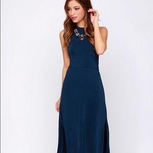 LULUS - Keepsake Adore You Navy Maxi Dress